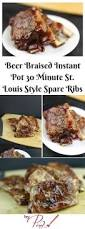 beer braised instant pot 30 minute st louis style spare ribs