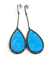 turquoise drop earrings tear drop earrings