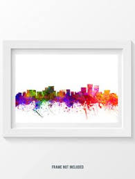houston texas skyline in color poster home decor gift by agedpixel