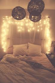 headboard lighting ideas 45 ideas to hang christmas lights in a bedroom shelterness