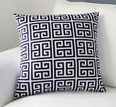 greek key home decor hot geometric cushion cover velvet greek key black white