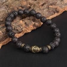 lucky beads bracelet images 8mm lava stone buddha lucky beads elastic bracelet bangle chain JPG
