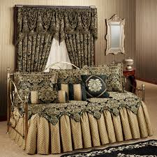 Bed Sets Black Imperial Ruffled Flounce Daybed Bedding Set