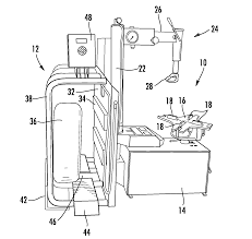 patent us8333228 tire changer with attached inflation cage