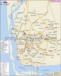 Hyderabad India Map by Mangaluru Mangalore City Map