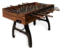 reclaimed wood game table bradley industrial reclaimed wood iron foosball table industrial