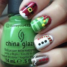 easy nail art characters 70 fabulous christmas nail art ideas brasslook