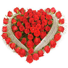 send flowers online wish any vocations by sending lovely heart that are made by 50