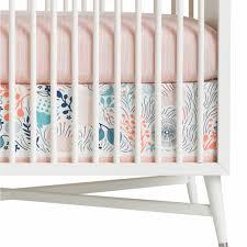 Dwell Crib Bedding Dwellstudio Crib Skirt Canvas Meadow Powder Blue And Matchstick
