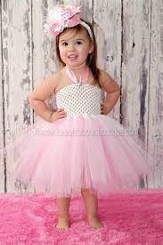 buy fancy pink white toddler baby tutu dress at