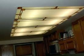 Kitchen Fluorescent Light Fittings Replace Fluorescent Light Fixture In Kitchen Bloomingcactus Me