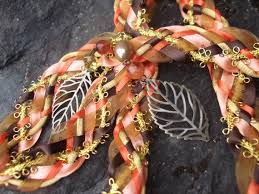handfasting cords for sale wedding handfasting cord autumn fall leaves orange gold brown