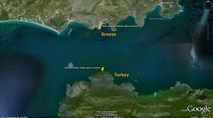 Distance Between Two Points Map Samos Media The Strait Of Samos Mycale Strait στενό της μυκάλης