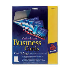Avery 5871 Business Cards Avery 5881 Microperforated Color Laser Business Cards 2