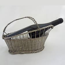 wine basket vannerie wine basket caddy silver plated christofle style from