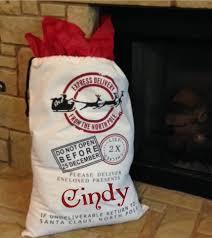 personalized santa sack personalized santa sack sleigh customize with name christmas