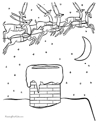 free reindeer christmas coloring pages