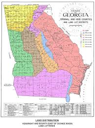 State Of Georgia Map by Georgia Land Lottery Map Paulding County Genealogical Society