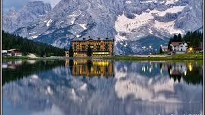 Italy Houses by Italy Houses Mountains Lake Cadore Lake Misurina Cities Nature