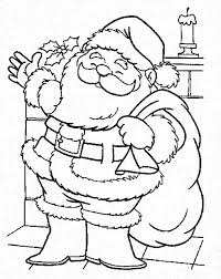 santa claus coming town christmas coloring color luna