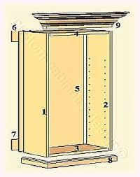 Parts Of Kitchen Cabinets by How To Build Cabinets Construction Design Custom Parts Building Plans