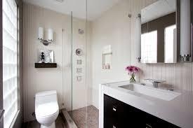 bathroom striped wall bathroom mirror flower in vase undermount