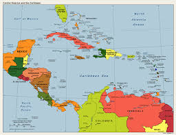 Map Americas by Political Map Central America And Caribbean Outline Map Of Usa