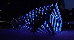 accumulation a glimmering led light tunnel installation the kid