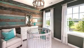 Turquoise Nursery Decor Turquoise Blue And Gray Nursery Design With Crib Country