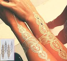 dreamcatcher flash tattoo body art gold temporary tattoos