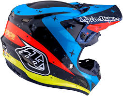 troy lee designs motocross helmets troy lee designs se4 twillight carbon blue motocross helmets troy