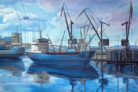 Painting Boat Interior Mural Painting
