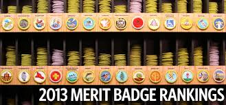 here are the most and least popular merit badges of 2013 and of