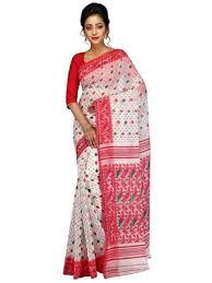 dhakai jamdani saree online buy women s dhakai jamdani saree in muslin white online