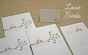 bird wedding invitations wedding stationery handmade lovebirds birds invitation