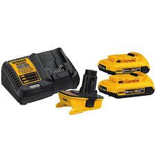 amazon black friday dewalt dewalt 18v to 20v max battery adapter kit w 2x 2 0ah batteries