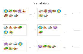 visual math worksheets maker sample visual addition