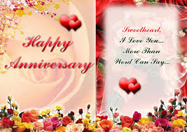 Happy Marriage Wishes Beautiful Happy Marriage Anniversary Greeting Card Design Idea
