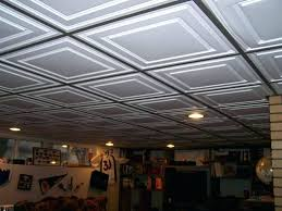 recessed lighting for drop ceiling in basement install halo