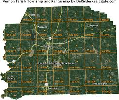 louisiana map fort polk parish township and range map