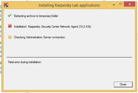 reset password kaspersky security center kaspersky network agent fatal error during installation geeks hangout