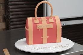 a step by step guide to make your own designer handbag cake