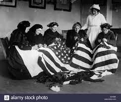 How To Sew A Flag Patriotic Elderly Immigrant Women Making A Flag During World War I
