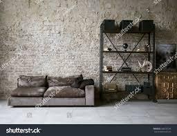 Modern Loft Living Room High Ceiling Stock Photo 600733136