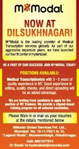 Medical Transcriptionist Job Description Resume by Job Mt Trainees Hyderabad Healthcare U0026 Medical Timesascent Com