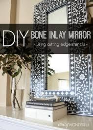 diy inlay mirror cutting edge stencils giveaway crazy wonderful
