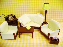 Sylvanian Families Village Furnitures Set Village Living - Sylvanian families living room set
