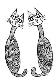 coloring pages print difficult cute cat coloring pages cat