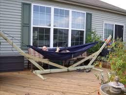 blue wooden outdoor eno hammock stand designs eno hammock