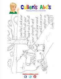 Bible Coloring Page About Love